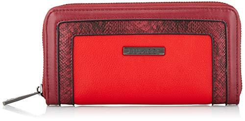 Bulaggi Fleur Wallet - Portafogli Donna, Rosso (Rot), 01x10x19 cm (B x H T)
