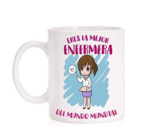 FUNNY CUP Taza Enfermera. Eres la Mejor Enfermera del Mundo Mundial. Taza...