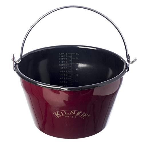 Kilner Red Enamel Jam Pan, 8.5-Quart