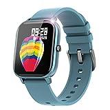 スマートウォッチ メンズ レディース 2020 スマートブレスレット GPS IP67防水 活動量計 歩数計 多機能腕時計 Line/Facebook/Twitter/着信通知 iPhone&Android対応 日本語 ブルー