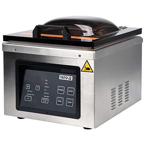 Yato - Máquina de envasado al vacío profesional para la industria, 630 W, hasta 300 mm de ancho, bomba dual para un trabajo rápido, pantalla digital, 4,6 m³/h