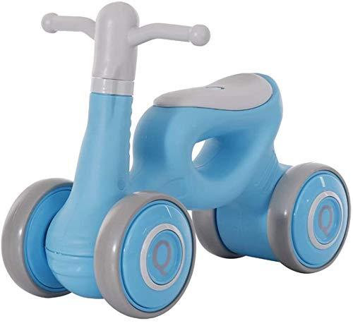 HEBAI Mini niños Walker, Cubierta de bebé al Aire Libre Bike Balance Sin Pedal del Coche de bebé Paseo en Juguetes for los 1-3 años 10.26 (Color : Blue)