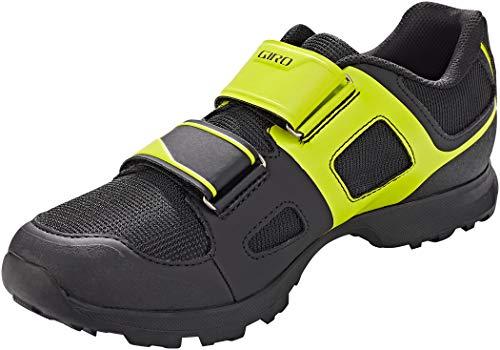 Giro Berm Mens Mountain Cycling Shoe − 45, Black/Citron Green (2020)