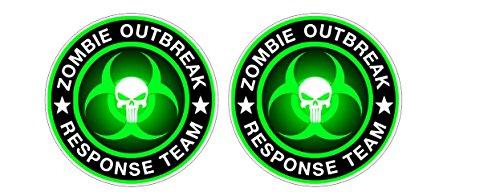 Umbrella Corporation Bio Hazard Outbreak Response Team Aufkleber Sticker + Gratis Schlüsselringanhänger aus Kokosnuss-Schale + Auto Motorrad Resident Evil Zombie Raccoon City Nemesis Walking Dead