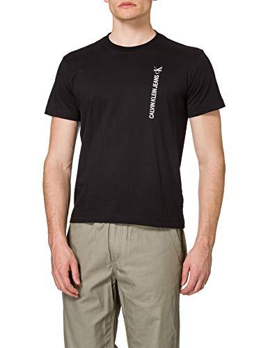 Calvin Klein Jeans Vertical Back Graphic Tee T-Shirt, CK Nero, M Uomo