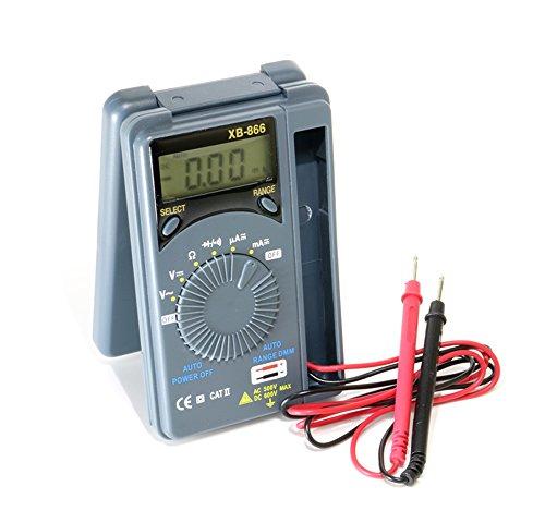 薄型ポケットデジタルテスターXB-866 オートレンジ/オートOFF/ホールド機能[単4形電池付属]