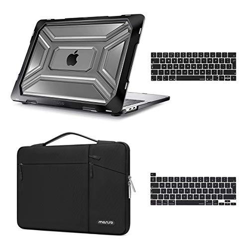 MOSISO Funda Dura Compatible con 2020 Release MacBook Pro 13 Pulgadas A2338 M1 A2289 A2251 con Touch Bar,Carcasa de Plástico con Parachoques de TPU & Bolso de Tansporte &Cubierta del T