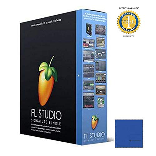 FL Studio 20 Image Line Signature Bundle (Boxed)with 1 Year Free Extended WarrantyandMicrofiber