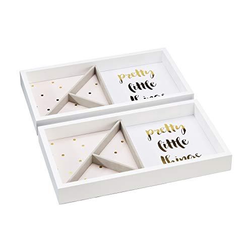 Amazon Basics - Vassoi impilabili per gioielli, confezione da 2