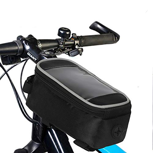 LOY tas voor frame van de fietsbuis vooraan – stuurtas met touchscreen, houder voor telefoon, fiets waterdicht