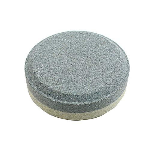 UIYU Doppelseitiger Schleifstein, rund, doppelseitig, Mehrzweck-Schleifstein, für Küchenmesser, Axt, Rasenmäher