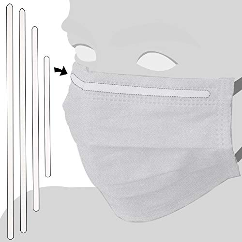 Nasenbügel für Mundschutz | Metall, weiß lackiert | Verschiedene Abmessungen | Menge wählbar / 150 mm x 5 mm, 10 Stück