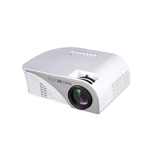 Mini Portatile video Proiettore, Multimedia Home Theater Proiettore 1200 Lumen Supporta 1080P/HDMI / USB / VGA /AV per, Computer Portatili, Giochi, Smartphone