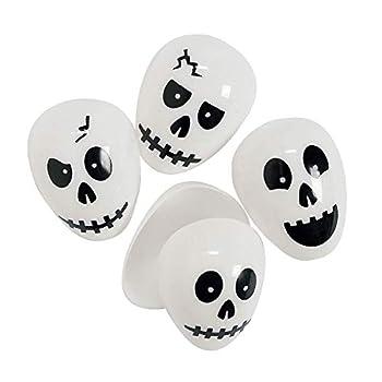 Skull Plastic  Easter  Halloween Eggs - 24 ct