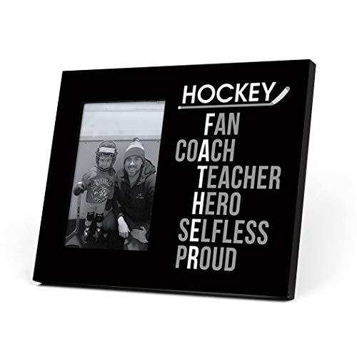 ChalkTalkSPORTS Hockey Father Words Picture Frame | Black