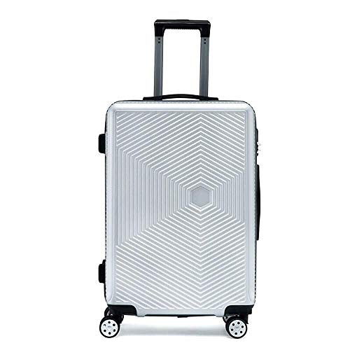 XKstyle Hard Surface Luggage Suitcase, ABS + PC With A Rotating Wheel Carry Lightweight Suitcase 20 Inches (Color : Silver, Size : 20 inch)