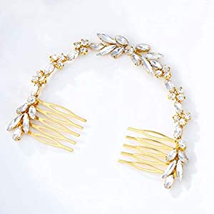 Beauty Shopping Unicra Wedding Crystal Hair Combs Bridal Headpieces Wedding Hair