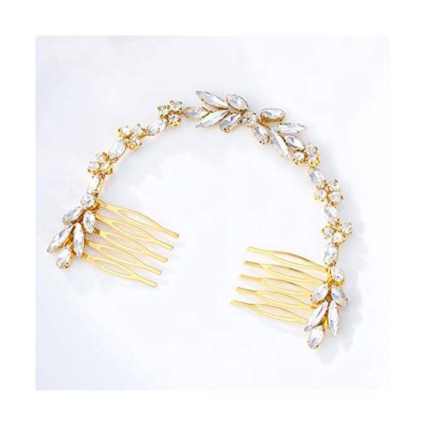 Beauty Shopping Unicra Wedding Crystal Hair Combs Bridal Headpieces Wedding Hair