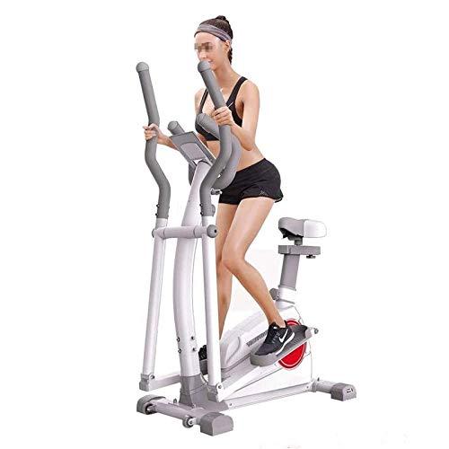 Máquinas de fitness de paso, entrenador de la máquina elíptica: resistencia y asientos ajustables de 8 niveles, con soporte de tabletas, máquina de ejercicio elíptico con silencio silencioso suave mag