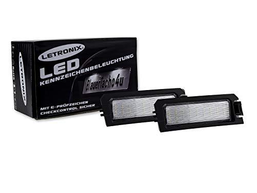 LETRONIX SMD LED Kennzeichenbeleuchtung Module i30 PD / i30 N i30N PD / i30 Fastback PD auch N/Elantra GT/Sonata Typ LFA/Rio Typ YB/Niro/Cadenza Typ/E-Prüfzeichen