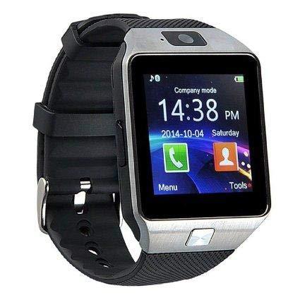 Reloj Inteligente Hombre con Pantalla Táctil de 1.56 'TFT LCD 240 * 240 Píxeles Reloj Mujer Digital Cámara 2.0M Reloj Bluetooth Inteligente Soporte Smartwatch Bluetooth Plata
