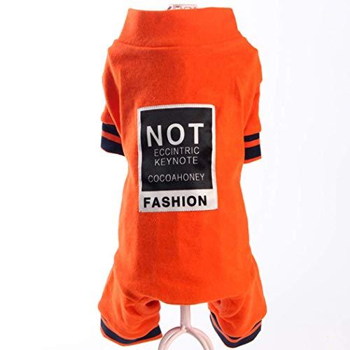 QHYY Vierbeinigen Kleidung Sommer Klein Hunde-Bekleidung Frühling netten helle Art-Haustier-Hemd mit kurzen Ärmeln,D,M