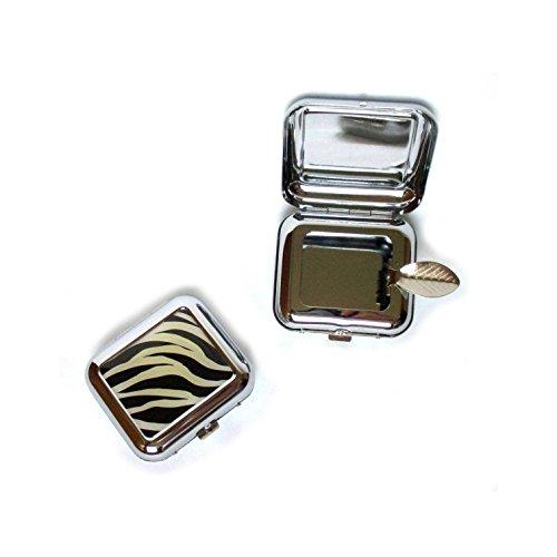 Posacenere Tascabile posa cenere misura piccola da viaggio da cucina (Bianco e Nero)