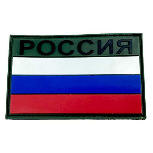 Russland Russisch Россия Flagge PVC Airsoft Paintball Klettverschluss-Flecken Cosplay Patch