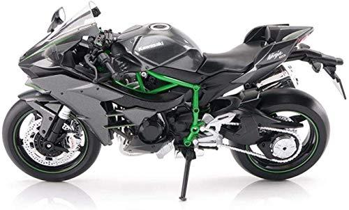Motocicleta de Juguete de Modelo Kawasaki H2R Superficie de la Carretera Locomotora de simulación de aleación de Motocicleta Modelo Regalo Colección Jzx-n