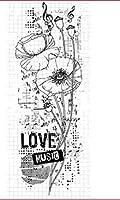 花透明クリアシリコンスタンプシールDIYスクラップブッキングフォトアルバム装飾B069