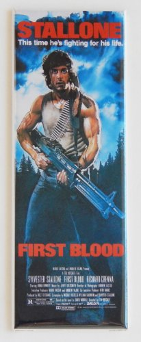First Blood Movie Poster Fridge Magnet (1.5 x 4.5 inches)