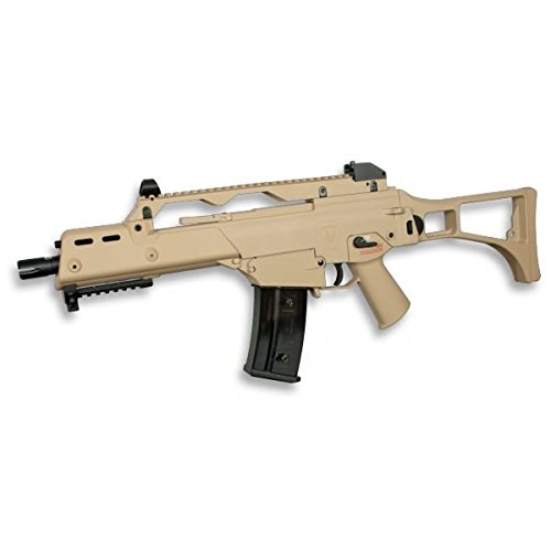 Golden Eagle Subfusil O Metralleta G36c De Bolas Airsoft Eléctrico Color Tan, energía 1,44 Julios