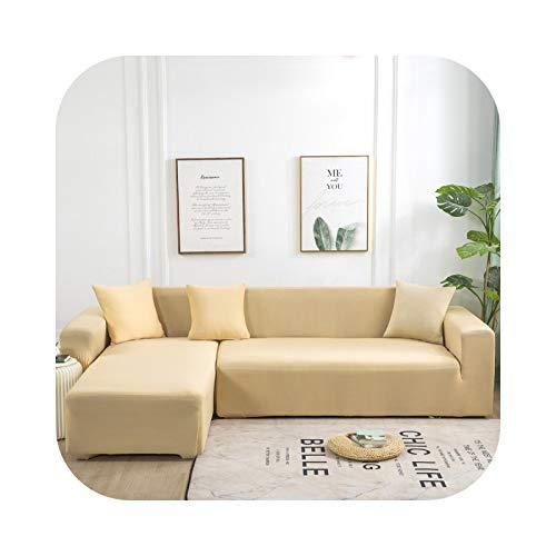 Sofa Covers - Funda de sofá de color liso para salón, toalla de sofá, todo en L, funda de protección – Pattern 21 – 4 seater 235 – 300 cm