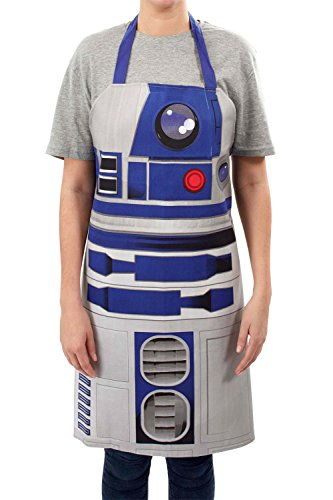 Funko SW02825 Star Wars Apron: R2-D2, Fabric, White, 80 x 70 x 0.3 cm