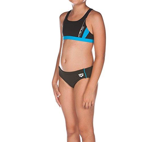 arena Mädchen Bikini Sprinter, Black/Turquoise, 116, 1A858