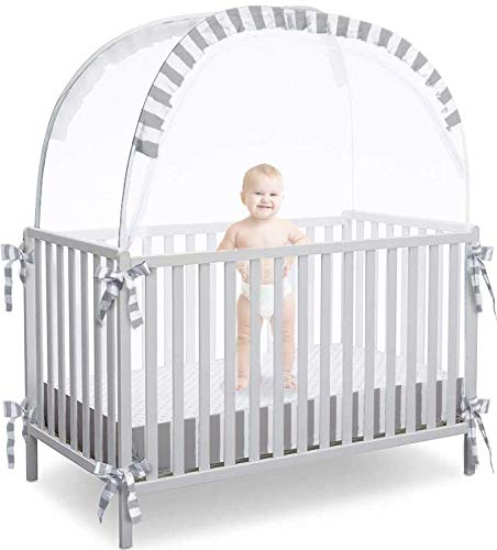 Baby Safety Pop up Crib Tent | Premium Crib Net to Keep Baby from Climbing Out | Mosquito Cover to Prevent Bites | Protect Your Baby from Falls or Bites | Unisex Infant Crib Tent Net
