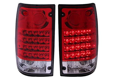 Anzo USA Toyota Pickup LED luz trasera montaje – (se vende en pares), Rojo (Red/Clear)