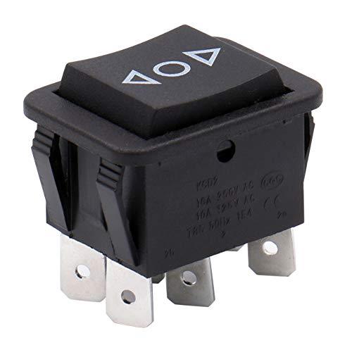 Heschen Wipptaster 16A 250VAC EIN-AUS-EIN Momentan DPDT 6 Klemmen Schwarz 2Pack