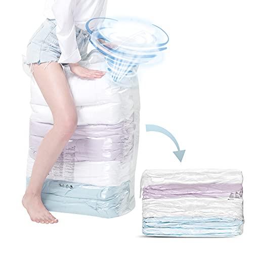 TAILI Vakuumbeutel Aufbewahrungsbeutel Jumbo Cube 2 Stück 80x100x38cm, ohne Staubsauger oder Pumpe, Reise Vakuum Wiederverwendbar Kleiderbeutel für Kleidung Bettdecken Bettwäsche Kissen Wolldecken