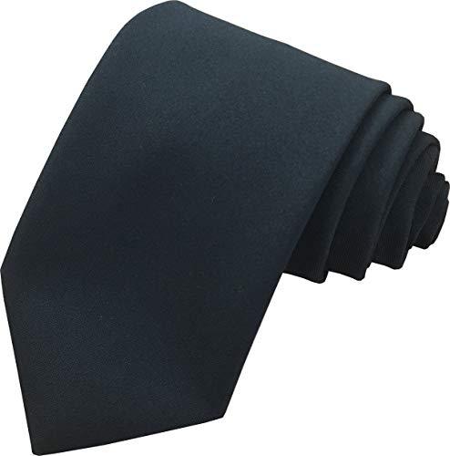 Great British Tie Club Cravates formelles d'affaires pour hommes, de longueur standard (couleurs variées) (Noir)