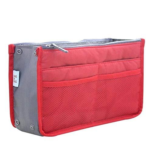 Sac cosmétique Sac de Maquillage Organisateur Voyage Portable Pouch beauté Fonctionnelle Sac de Toilette Maquillage Maquillage Organisateurs Téléphone Sac Case (Color : Red)
