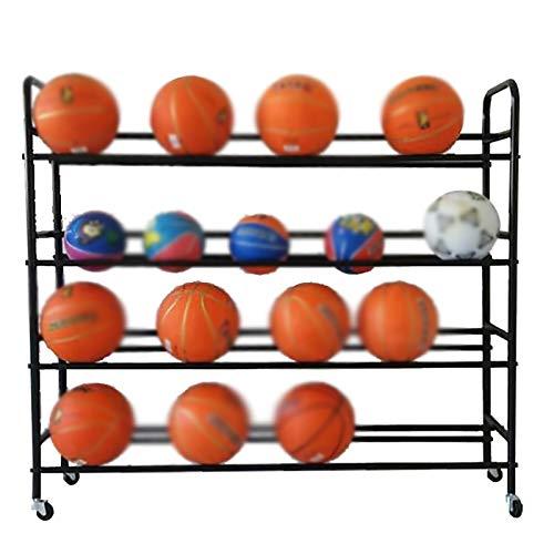 YLiansong-home Cesta de Recogida de Bola Cesta Pantalla de Baloncesto de Almacenamiento de Baloncesto Bastidor de Baloncesto Bola de Almacenamiento Adecuado para escuelas Cesta de Recogida de Bola