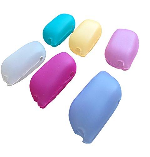 6er Set Silikon Zahnbürstenhülle Reise-Schutzkappen FLEXIBEL & HYGIENISCH - Lebensmittelechtes Silikon – Universal auch für elektrischen Zahnbürsten – Aufbewahrung Kappen Abdeckungen Hülle - Etui