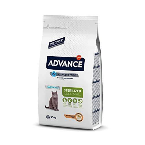 ADVANCE Sterilized Junior - Cibo per Gatti Sterilizzati Junior con Pollo - 1,5kg