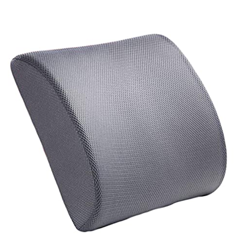 XIAOXU MIN Memoria de automóvil espuma transpirable asiento de asiento de asiento de acoplamiento lumbar cojín de espalda de espalda Apoyo de la cintura de la cintura de la almohada de los viajes almo