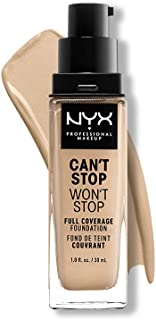 NYX PROFESSIONAL MAKEUP Can't Stop Won't Stop Full Coverage Foundation, Warm Vanilla 6.3