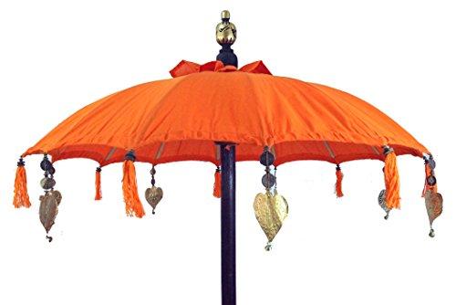 Guru-Shop Ombrello da Cerimonia, Ombrello Decorativo Asiatico - Arancione, Ombrelloni da Sole