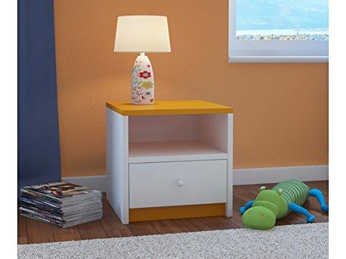 Children's Beds Home Comodino per Bambini Babydreams per Bambini, Bambini, Junior (Arancione, 40x40x30)