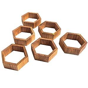 CAPOARTI 3er Pack Sechseckregale aus Eichenholz