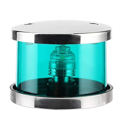Signal lumineux, feu de signalisation de navigation, lampe de signal de boîtier, 12V 360 ° IP66 vert LED voyant d'avertissement de navigation lampe de signal de boîtier transparent pour